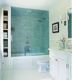 Beautiful subway tile bathroom remodel and renovation (27)