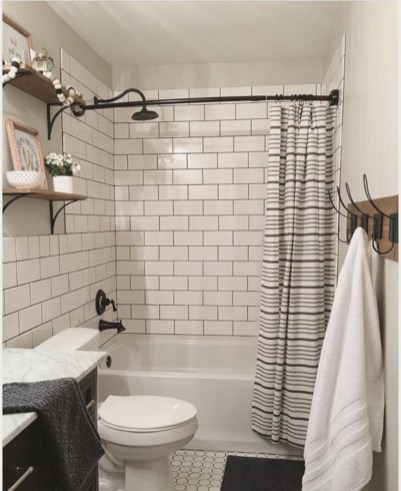 beautiful subway tile bathroom remodel and renovation 28
