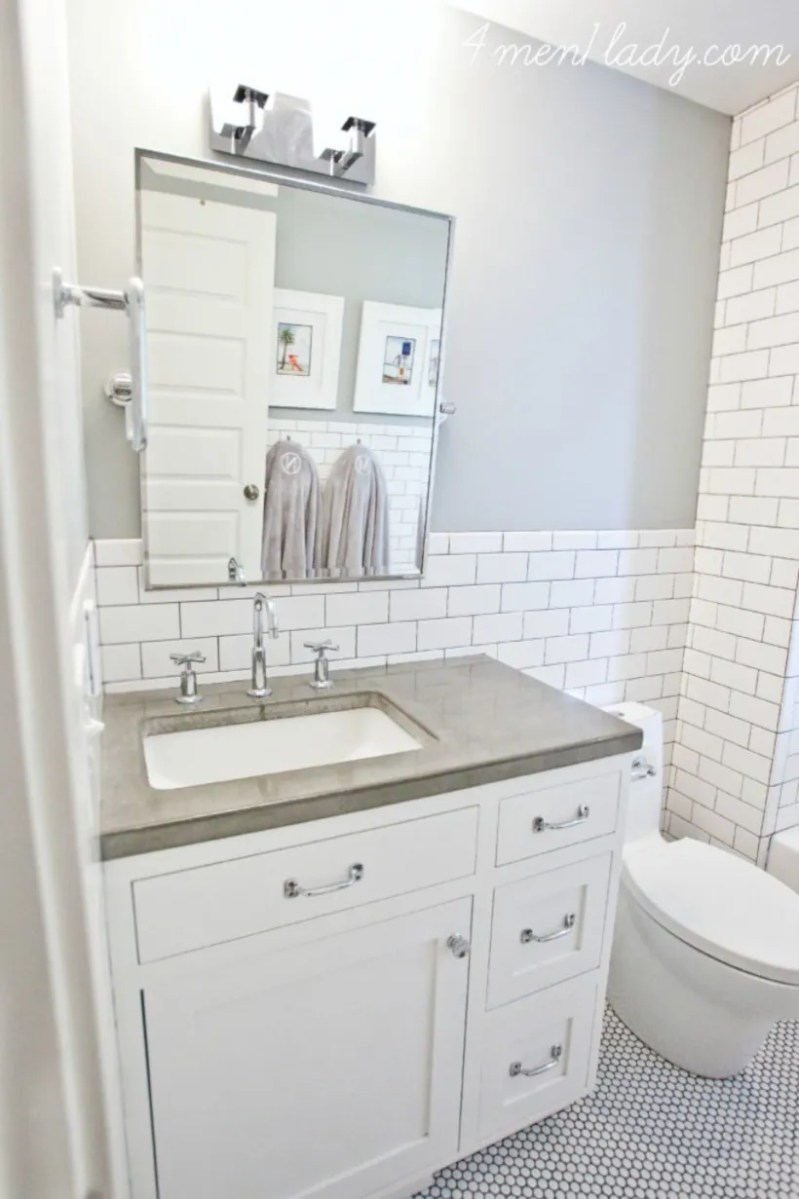 Beautiful subway tile bathroom remodel and renovation (36)