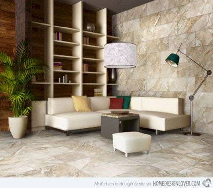 Classy living room floor tiles design ideas 47