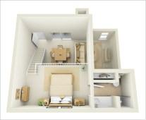 Cool one bedroom apartment plans ideas 16