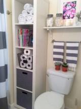Cool organizing storage bathroom ideas (17)