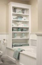 Cool organizing storage bathroom ideas (56)