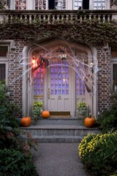 Creative diy halloween decorations using spider web 16