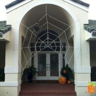 Creative diy halloween decorations using spider web 20
