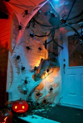 Creative diy halloween decorations using spider web 34