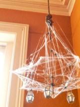 Creative diy halloween decorations using spider web 37