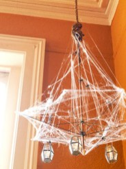 Creative diy halloween decorations using spider web 37