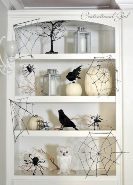 Creative diy halloween decorations using spider web 38