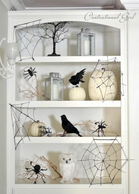 Creative diy halloween decorations using spider web 38