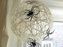 Creative diy halloween decorations using spider web 45