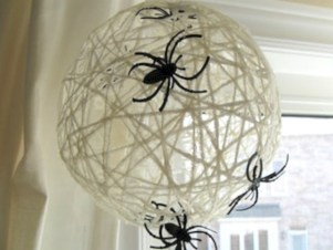 Creative diy halloween decorations using spider web 45