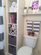 Creative storage bathroom ideas for space saving (24)