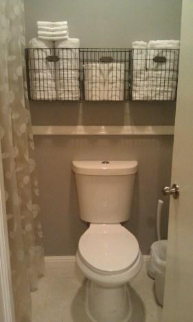 Creative storage bathroom ideas for space saving (27)