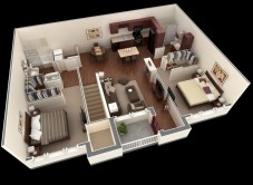 Creative two bedroom apartment plans ideas 04