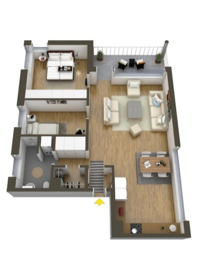 40 Creative Two Bedroom Apartment Plans Ideas ROUNDECOR Interesting Two Bedroom Apartment Plan Creative
