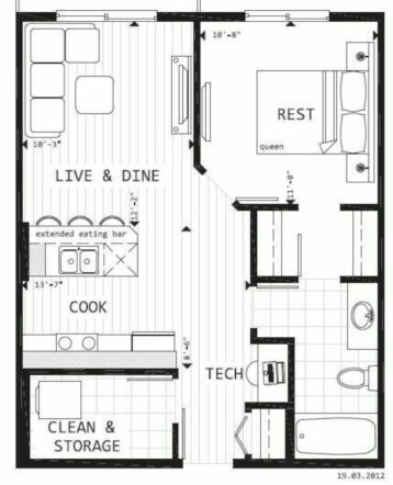 Creative two bedroom apartment plans ideas 14