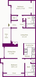 Creative two bedroom apartment plans ideas 20