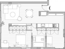 Creative two bedroom apartment plans ideas 21