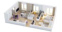 Creative two bedroom apartment plans ideas 35