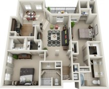 Creative two bedroom apartment plans ideas 43