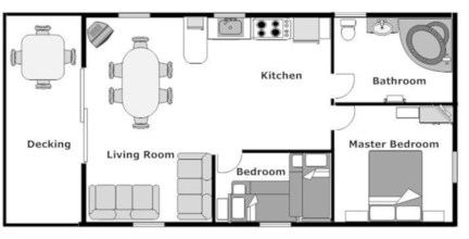 Creative two bedroom apartment plans ideas 46
