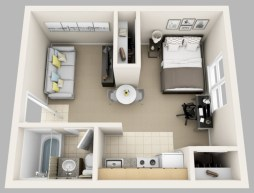 Creative two bedroom apartment plans ideas 47