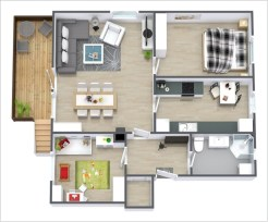 Creative two bedroom apartment plans ideas 49