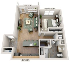 Creative two bedroom apartment plans ideas 51