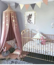 Cute baby girl bedroom decoration ideas 13