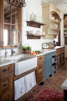 Decorate awesome kitchen with farmhouse cabinet (35)