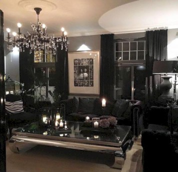 Elegant halloween living room decoration ideas 17