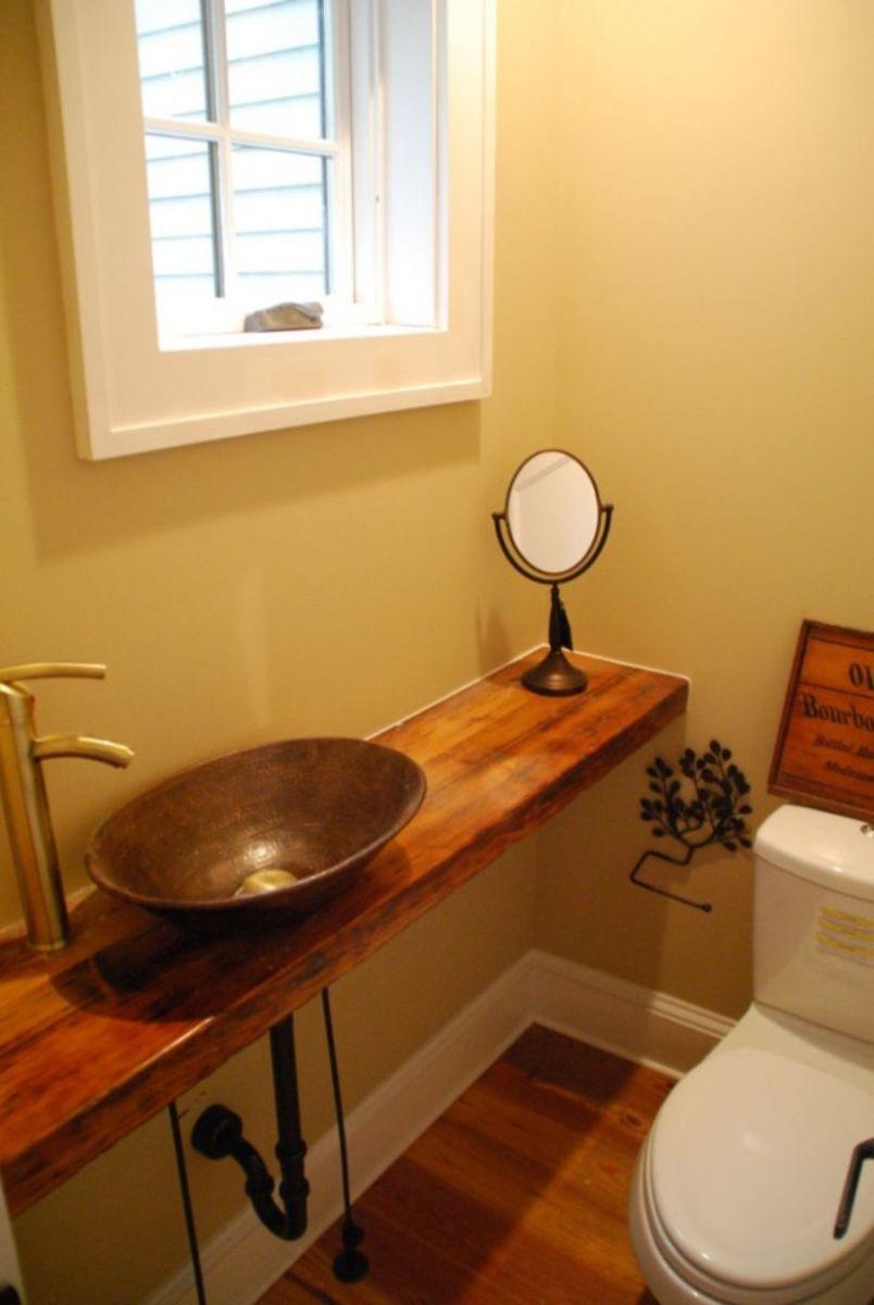 Farmhouse bathroom ideas for small space (11)