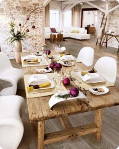 Gorgeous rustic christmas table settings ideas 29 29