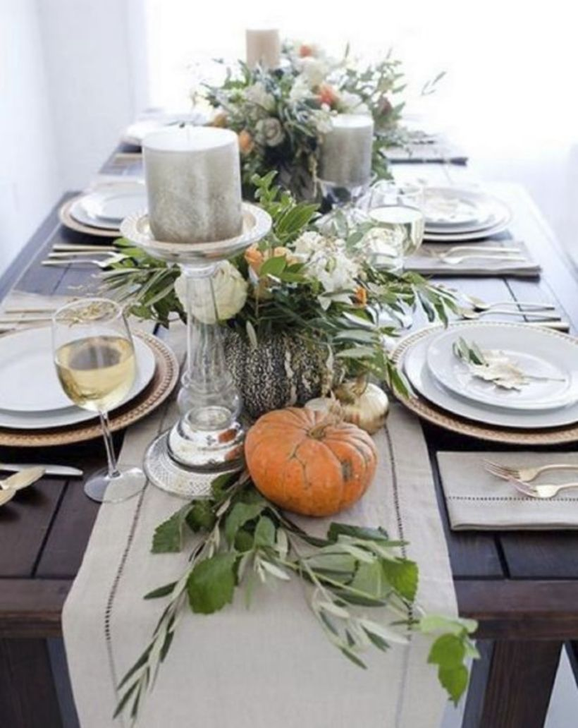 Gorgeous rustic christmas table settings ideas 32 32 & 54 Gorgeous Rustic Christmas Table Settings Ideas - Round Decor