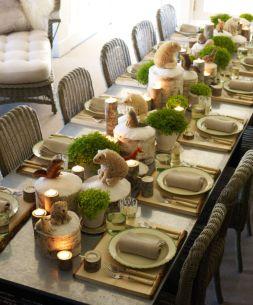 Gorgeous rustic christmas table settings ideas 5 5