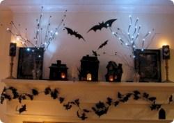 Great halloween mantel decorating ideas 18