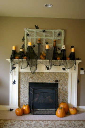 Great halloween mantel decorating ideas 20