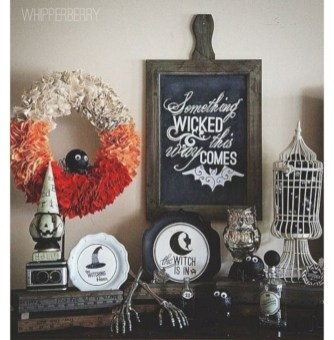 Great halloween mantel decorating ideas 44