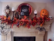 Great halloween mantel decorating ideas 46
