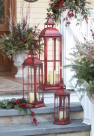 Ideas how to make comfortable rustic outdoor christmas décoration 14
