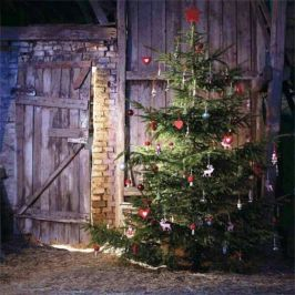 Ideas how to make comfortable rustic outdoor christmas décoration 16