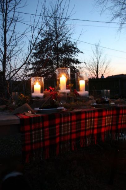 Ideas how to make comfortable rustic outdoor christmas décoration 49