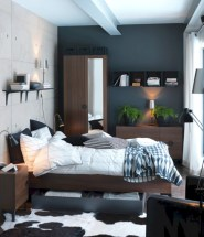 Industrial bedroom designs ideas for small spaces 24
