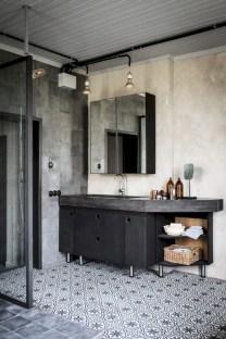 Industrial vintage bathroom ideas (22)