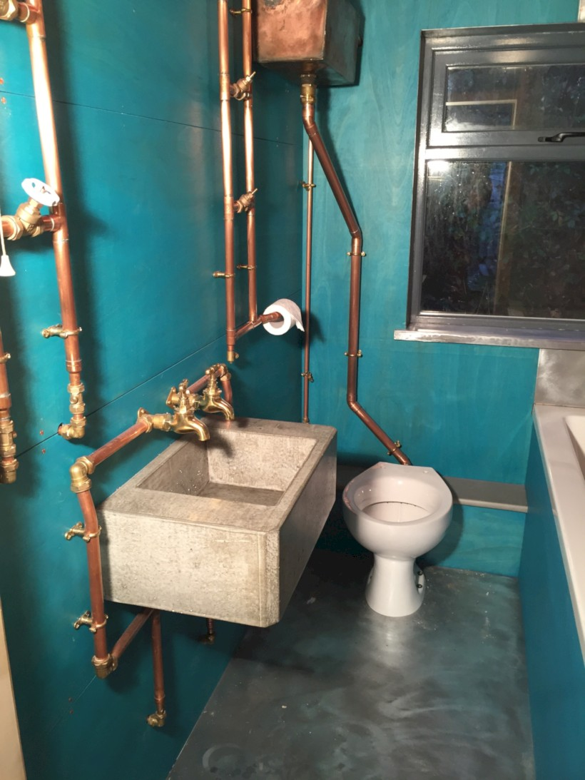 Industrial vintage bathroom ideas (3)