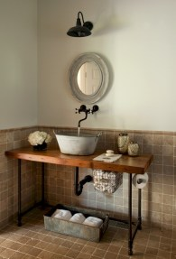 Industrial vintage bathroom ideas (39)