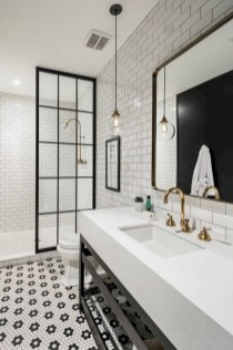 Industrial vintage bathroom ideas (4)