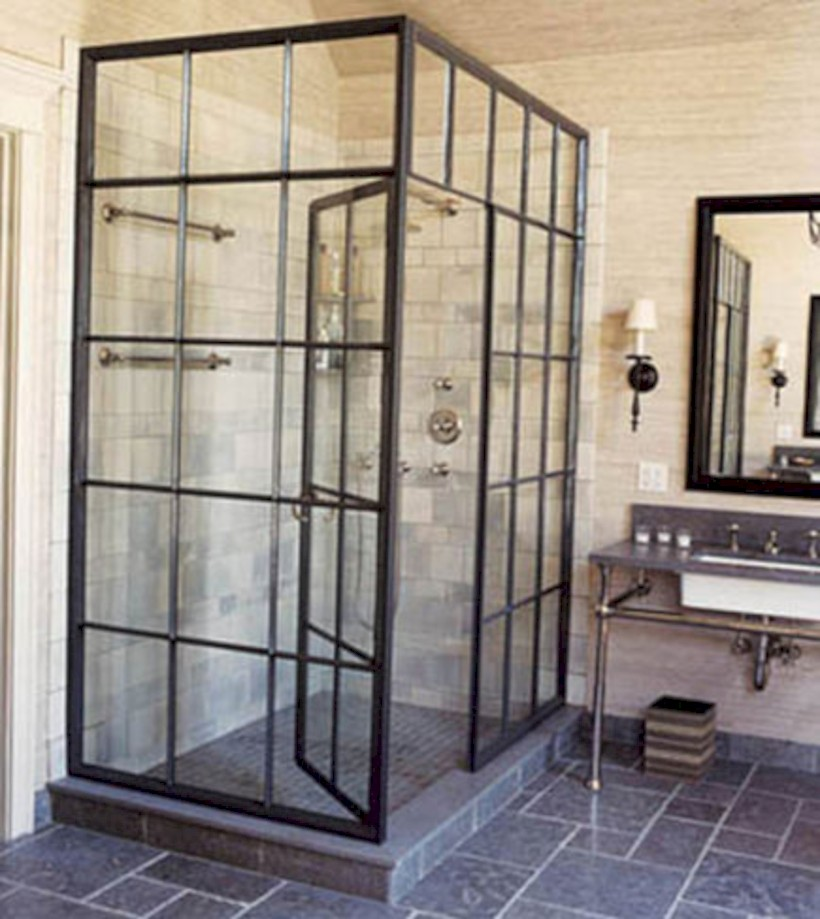 Industrial vintage bathroom ideas (43)