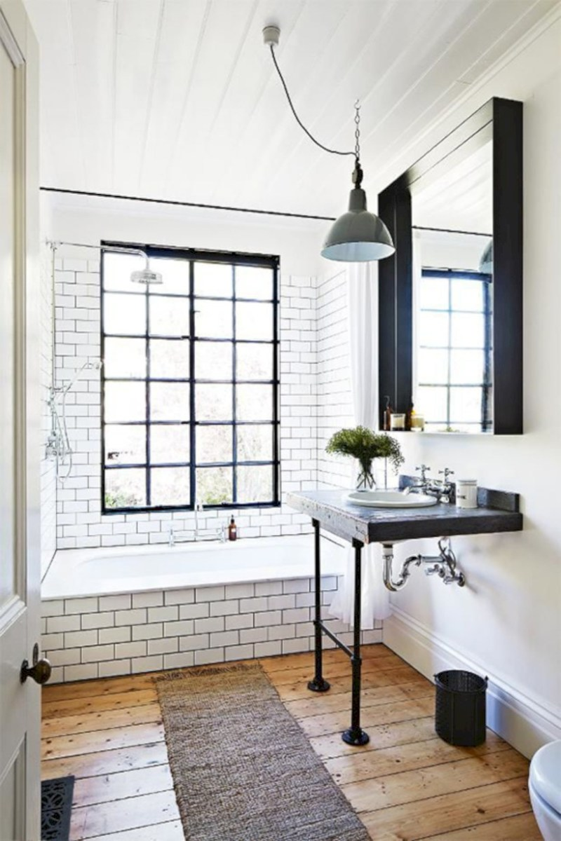 Industrial vintage bathroom ideas (47)